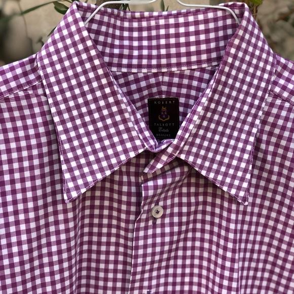 NW Robert Talbott 🇺🇸 Estate Bespoke Shirt 👔Sz L